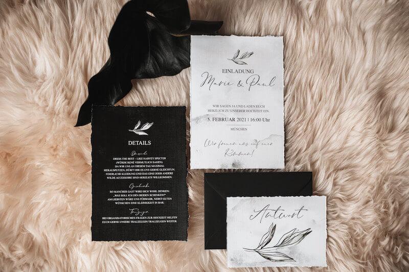 Einzigartige Hochzeitseinladungen - elegant rustic