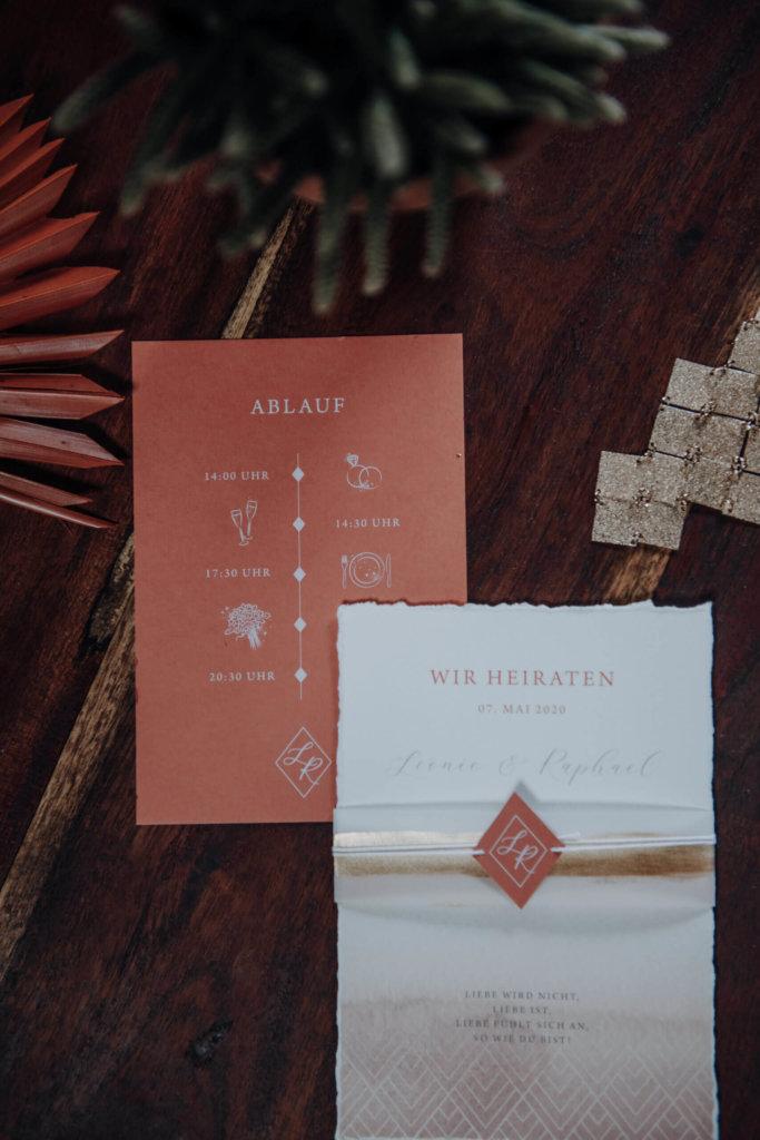 Einzigartige Hochzeitseinladungen - ethno chic