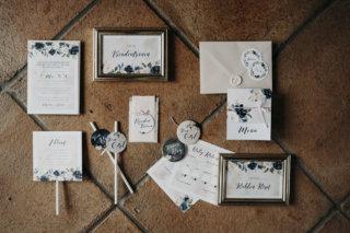Hochzeit mit Baby-Gender-Reveal-Party - Papeterie