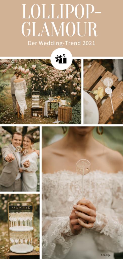 Lollipop-Glamour zur Hochzeit - Pinterest Collage