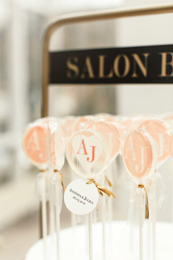 Lollipop-Glamour zur Hochzeit - Oblatenlolli
