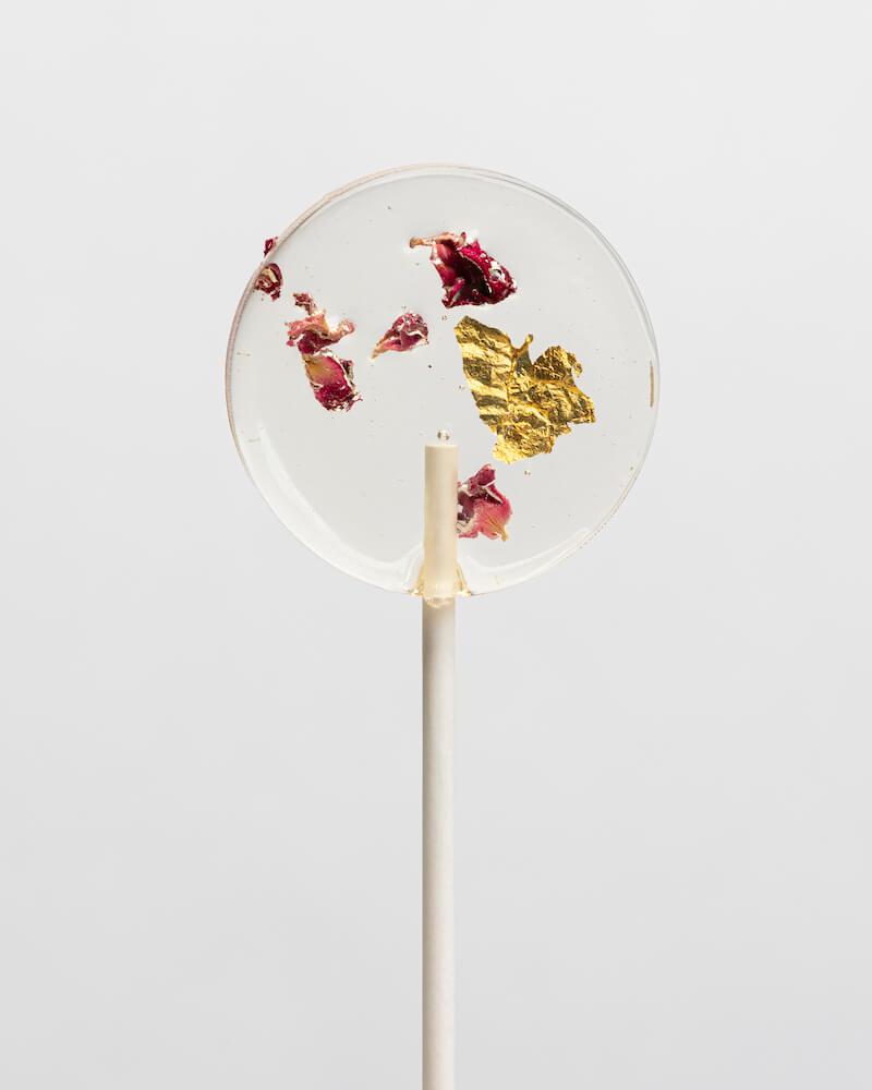 Lollipop-Glamour zur Hochzeit - Blüten-Lolli
