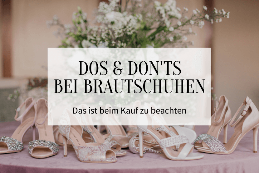 Dos und Don'ts bei Brautschuhen - Titelbild