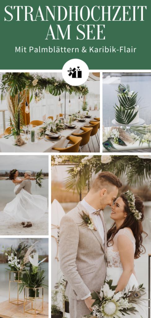 Strandhochzeit am See-Pinterest Collage