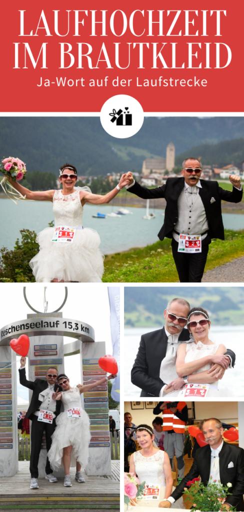 Laufhochzeit im Brautkleid - Pinterest Collage