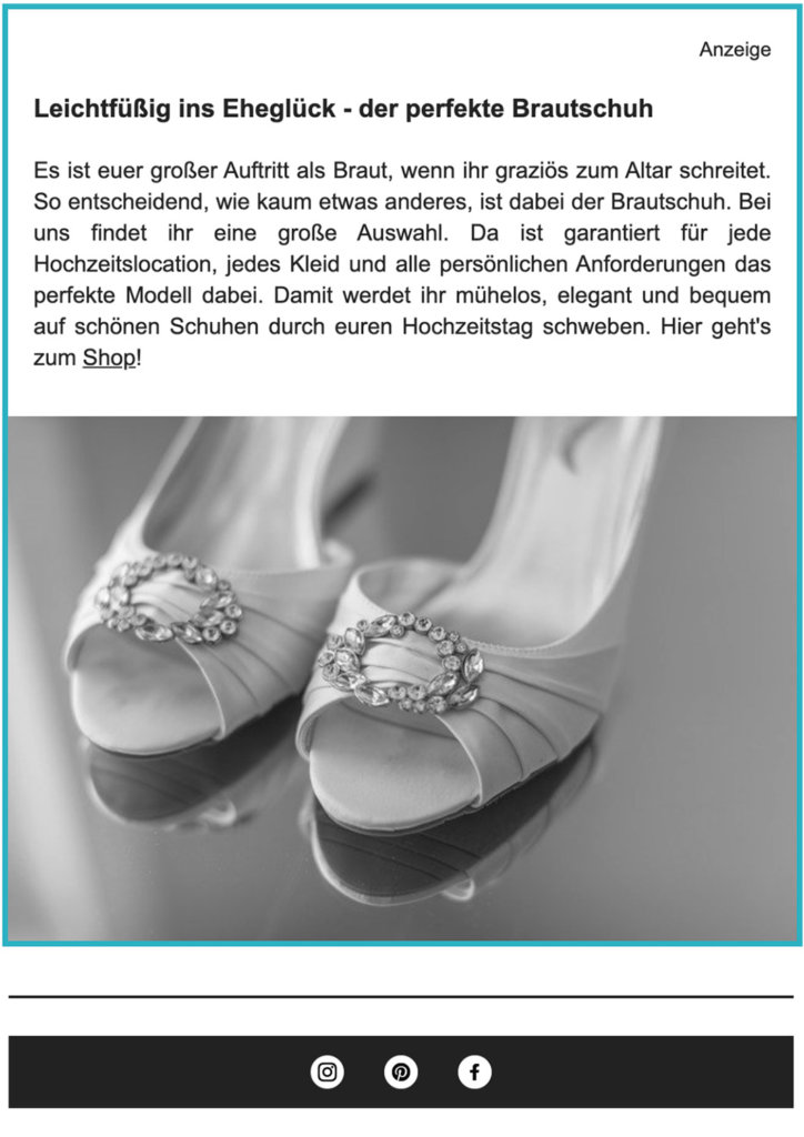 Hochzeitskiste Newsletter
