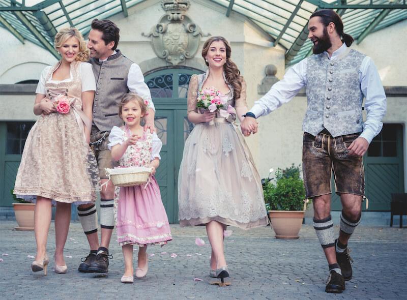 Brautstyling in Tracht - Brautpaar